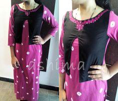 Code:0711161 - Bandini Kurti With Hand Embroidery, Price INR:1890/-