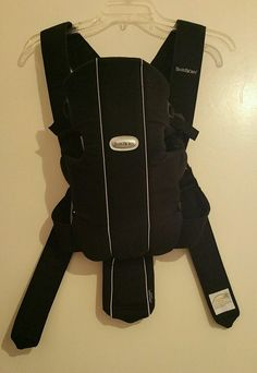Original Baby bjorn black front infant carrier sling w manual   | eBay