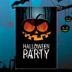New Colorful Garden Flag Primitive Jack Pumpkin Lanterns Halloween 12'' x 18'' Flag Home Party Decor Gift