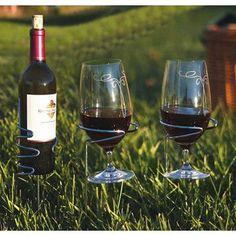 Picnic Plus by Spectrum Glass Handy 1 Bottle Tabletop Wine Rack