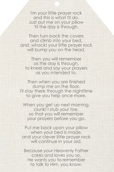 Free #Prayer Rock Printable
