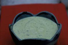 Easy recipe for cilantro aioli made with eggs, oil, cilantro, lime and garlic