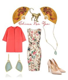 Year of the Monkey by la-guajira on Polyvore featuring Lipsy, Michael Kors, Rupert Sanderson, Chloe + Isabel, Williams-Sonoma, You can Shop all jewelry in my boutique xiomarad.chloeandisabel.com ,women's clothing, women's fashion, women, female and woman