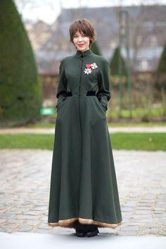 Street style - Ulyana Sergeenko in her own design