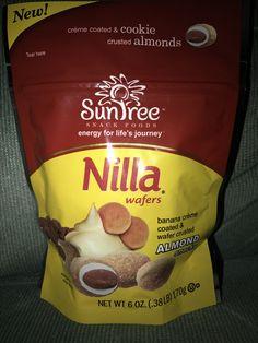Suntree snack foods nilla wafers Banana crèam coated & wafer crusted almond snacks