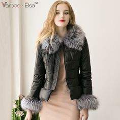 4f4f181fbc89 Aliexpress.com   Buy 2016 women Autumn Real Leather Jacket Coat Fox Fur  Collar long Sleeve Winter Women Fur Outerwear Coat Garment black leather  coat from ...