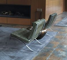 Knoll Brno chairs designed by Mies van der Rohe in Wayne's lake house, as seen in Batman v Superman. Get your own at http://www.filmandfurniture.com