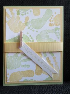 Baby Shower Invitation. Would be great as triple time stamping card.