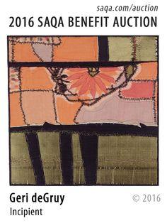 """Incipient"" - art quilt by Geri deGruy"