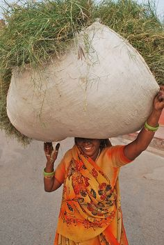 Woman Carrying Hay, Agra by Peter Cook UK, via Flickr