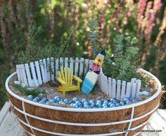 Beach theme fairy garden