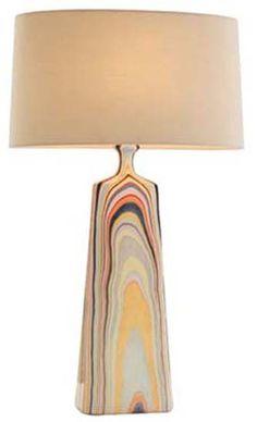 Multi-Color Porcelain Lamp