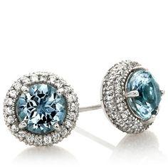 Rarities Gemstone and White Zircon Stud Earrings HSN $139.98