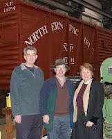Feb 6, 2010 - Dr. Anne Radice, Director of the Institute for Museum and Library Services in Washington, DC, visits the Northwest Railway Museum and views Chapel Car 5 Messenger of Peace, which she and the IMLS staff selected for funding from the Save America's Treasures program they manage in collaboration with the National Park Service and other federal agencies.