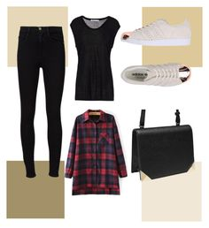 """""""Untitled #16"""" by ajengans on Polyvore featuring T By Alexander Wang, Frame Denim and adidas Originals"""