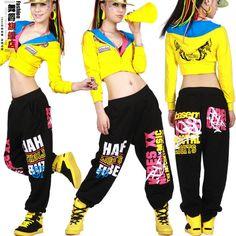 2016 New fashion autumn winter Harem hip hop dance pants women sweatpants costumes letter female sports trousers elastic waist