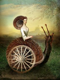 The Chariot Tarot Card Series by Catrin Welz-Stein Surrealism Painting, Pop Surrealism, Painting Art, 7 Arts, Snail Art, Arte Fashion, Art Sculpture, Arte Pop, Whimsical Art