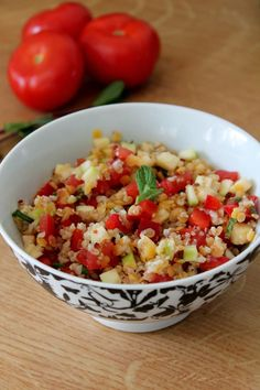 Un rayon de soleil et je prépare de suite des salades, bien pratiques pour un dîner complet. Je vous propose une recette végétarienne, où l...