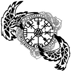 love tattoo norse tattoo design by verbatimspade on DeviantArt Celtic Horse Tattoo, Viking Tattoo Sleeve, Viking Tattoo Symbol, Rune Tattoo, Viking Tattoo Design, Celtic Tattoos, Wiccan Tattoos, Indian Tattoos, Slavic Tattoo