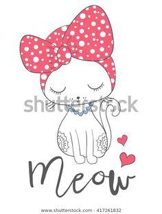 Cat Wallpaper, Pattern Wallpaper, Chat Rose, Funny Cute Cats, Illustration, Arte Pop, Pink Cat, Cat Pattern, Cat Design