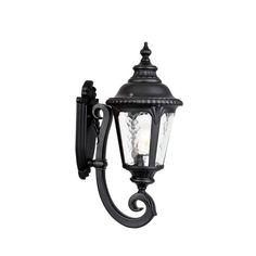 "Acclaim Lighting 7201 Surrey 1 Light 19.5"" Height Outdoor Wall Sconce Matte Black Outdoor Lighting Wall Sconces Outdoor Wall Sconces"