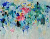 Art print- art Giclee Print 16x16 from original oil painting - Lotus- wall decor- wall art- abstract