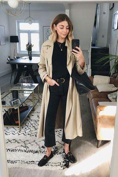 Trench Coat Beige, Trench Coat Outfit, Trench Coat Style, Winter Trench Coat, Coat Dress, Estilo Fashion, Look Fashion, Ideias Fashion, Fashion Outfits