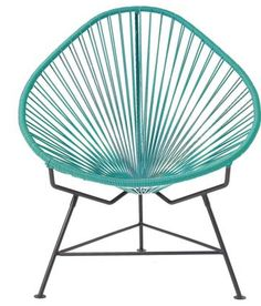 chair, Acapulco Chair, office chair, woven chair, colorful chair, teal, mint, blue, outdoor chair