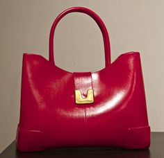 Red clay purse.