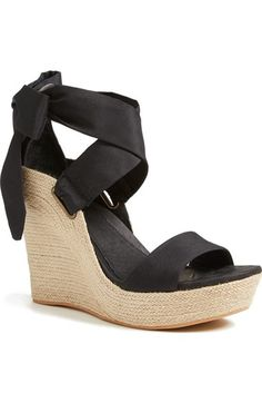 UGG® 'Jules' Platform Wedge Sandal (Women) available at Nordstrom | Galleria Dallas | Summer | Wedges | Sandals | Style