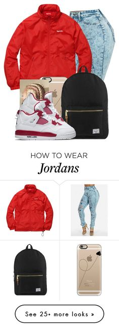 """""""Supreme Queen"""" by danimack03 on Polyvore featuring Casetify, Herschel Supply Co. and NIKE"""