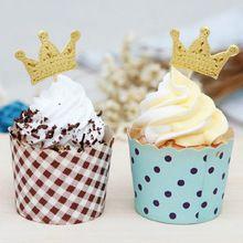 Zlatá kniha Princess Crown Topper ODMĚNY Party dort Cupcake výběr miminko…