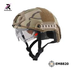 2017 Airsoft Skirmish Sports Helmets EM FAST Helmet With Protective Goggle PJ Type Military AirsoftSports Em8820 MultiCam #Affiliate