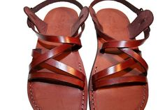 Brown Star Leather Sandals by SANDALI on Etsy, $55.00