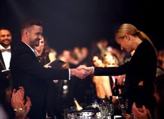 Pin for Later: Gwyneth Paltrow Praises Chris Martin and Gets Love From Justin Timberlake