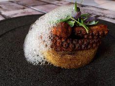 Korean grilled octopus with polenta ash dust and ponzu bubble  #homemade #thestaffcanteen #foodart #foodporn #foodstylish #chefstalk #chefslife #chefonprogress #dontshootthechef #foodstarz #truecooks #chefsofintagram #theartofplating #gastroart #GourmetArtistry #culinaryart #slowcooking #gastronogam #Gourmet #Instafood #gastronomy #plating #feedfeed #fourmagazine #foodknockout #Indonesia #fancyfoodjour by nathanaeloscar