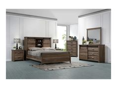 Shop for the Crown Mark Calhoun Queen Bedroom Group at Rooms for Less - Your Columbus, Reynoldsburg, Upper Arlington, Westerville Ohio Furniture & Mattress Store Queen Bedroom, Queen Beds, Bedroom Sets, Home Bedroom, New Furniture, Discount Furniture, Living Room Furniture, Bookcase Bed, Bookcase Styling