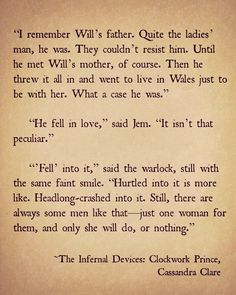 Clockwork Prince book excerpt. Written by Cassandra Clare, author of The Mortal Instruments and Infernal Devices series. Some of the best books EVER!