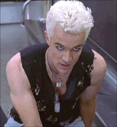I find James Marsters as Spike pretty attractive, but he's most attractive in his 70s gear. Also, James Marsters doesn't do it for me when his hair isn't bleach blonde. Did I mention I went through a Billy Idol phase? adeia