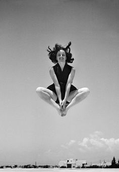 RAISE ME UP......Shot of legendary photographer Rudi Weissenstein's wife Miriam. (by her husband of course)