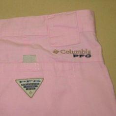 COLUMBIA PFG Omni Shade Fishing  Cargo SHORTS Sz 36 - PINK  - 100% Cotton #Columbia #Cargo
