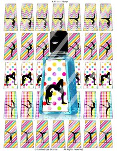 Gymnastics Hand Sanitizer Labels Gymnastics Party by IzyBGifts