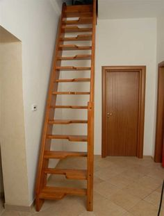 Straight staircase / lateral stringer / for small spaces MARINARA Ci. Erre Scale