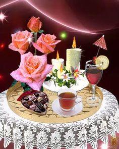 Afrikaanse Quotes, Goeie Nag, Happy Birthday, Birthday Cake, Good Morning Gif, Good Night, Flower Power, Table Decorations, Animation