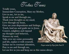 Daughter of the King — Totus Tuus, prayer said by Pope John Paul II Catholic Religion, Catholic Quotes, Catholic Prayers, Prayers To Mary, Special Prayers, Mary I, Mama Mary, Juan Pablo Ii, Pope John Paul Ii