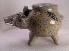 Warthog Folk Pot – Animal Face Jug – Spice Jar – Effigy Jar – Herb Caddy | eBay