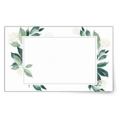 Shop Watercolor Leafy green botanical Rectangular Sticker created by SilverNecklaceGift. Framed Wallpaper, Wallpaper Backgrounds, Iphone Wallpaper, Presentation Backgrounds, Background Powerpoint, Instagram Frame, Frame Template, Envelope Design, Floral Border
