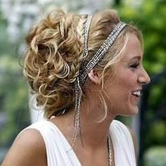 A beach wedding headband is a great understated alternative to a tiara and is therefore perfect for an informal beach wedding as well as to keep the wind from playing havoc with your hairstyle! Grecian Hairstyles, Headband Hairstyles, Pretty Hairstyles, Wedding Hairstyles, Greek Hairstyles, Updo Hairstyle, Beach Hairstyles, Bohemian Hairstyles, Formal Hairstyles
