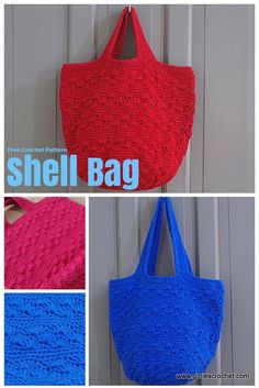 Free Crochet Pattern : Shell Bag, a boho bag great for beginner's. It has photo tutorial in each step to guide you.