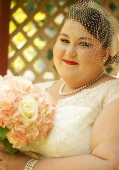 BBW bride - she's just so pretty!
